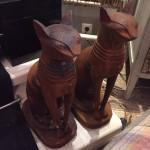 zwarte ijzeren katten € 395 per stel