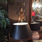 Set van 2 oude wandlampjes samen € 195,00